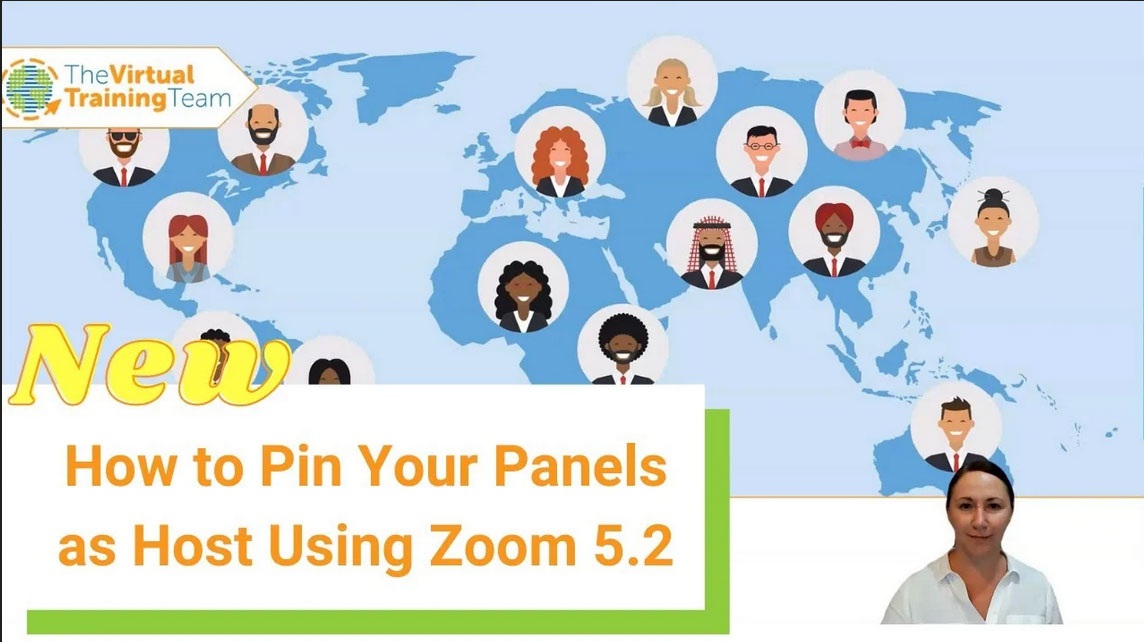 How to Pin Your Panels as Host Using Zoom 5.2