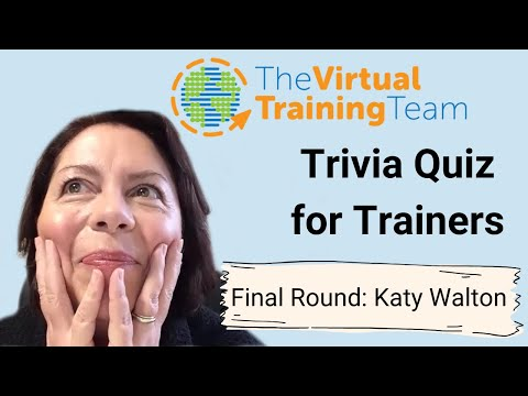 Trivia Quiz for Trainers: Final Round!